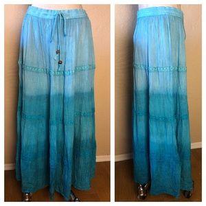 Dipped 100% Rayon BOHO Skirt
